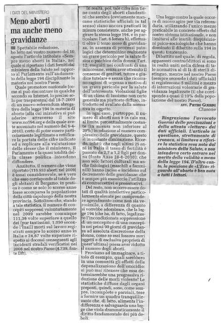 Articolo 30 Agosto