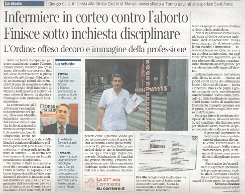 Articolo Corriere della Sera del 20 ottobre 2011