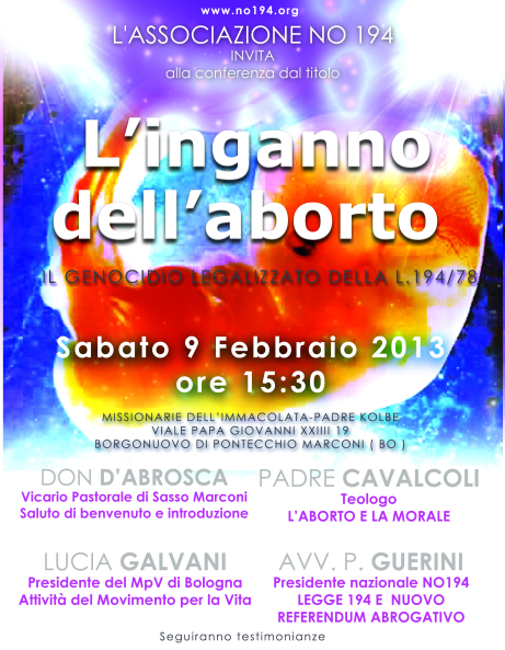 Locandina Conferenza 9.2.2013