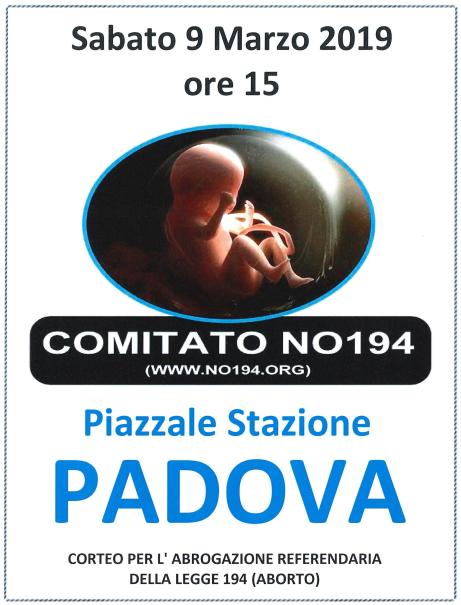 Corteo Padova 9 marzo 2019